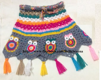 Toddler 2-4 years Granny multicolor crochet skirt