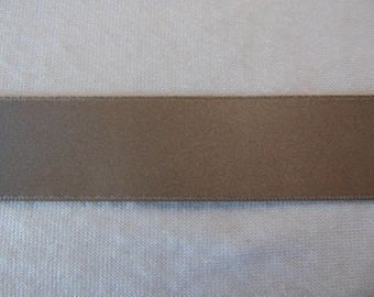 Satin ribbon, taupe, width 25 mm (S-427)