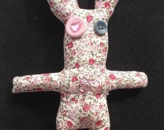 Liberty floral fabric Bunny plush