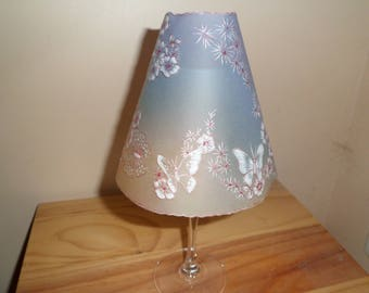 candle holder with glass on foot and candle wedding table decoration