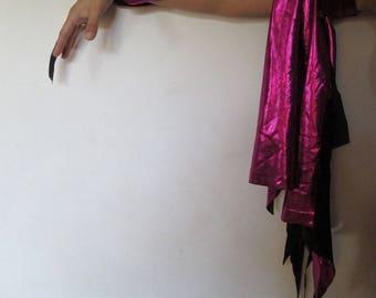 08 bracelet upper arm Fuchsia lamé