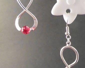 Red infinity earrings