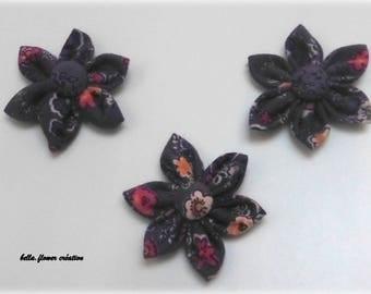 Interleave for creation of flower printed purple 5cm