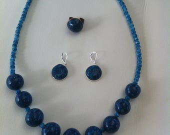 Blue and turquoise set