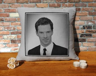Benedict Cumberbatch Pillow Cushion - 16x16in - Grey