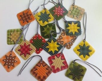 Christmas star gift tags, set of 8 assorted printed