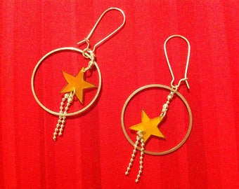 Shooting stars with shrink plastic earrings.