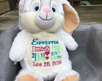 Personalized plush bunny