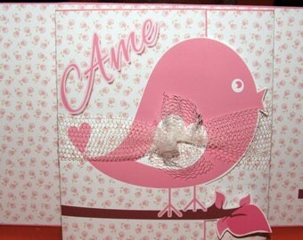 Digital invitation with photo-themed bird tryptic
