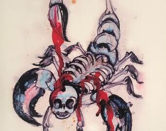 Scorpionskeleton print