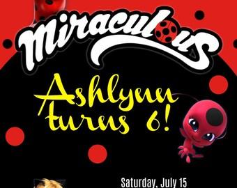 Miraculous Ladybug Birthday Invite