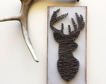 Custom Deer Silhouette String Art Sign