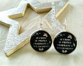 Unicorns and prince charming earrings