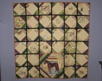 Beige reversible patchwork