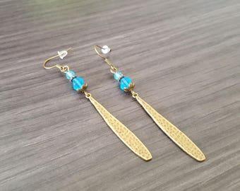 Long Turquoise drop Earrings