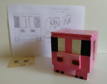 """Box """"Pig"""" inspired by Minecraft."""