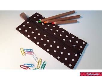 "Rectangular ""Brown polka dot"" Kit"