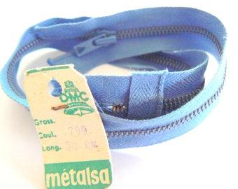 Blue 30cm zipper Dmc Metalsa 799 No. 50-70 years