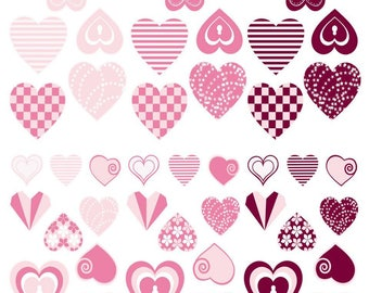 Stickers hearts 720 pcs - MAILDOR - Ref 560422