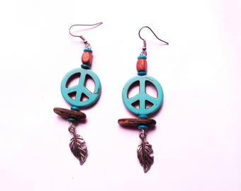 """Earrings hippie style """"Dragon"""""""