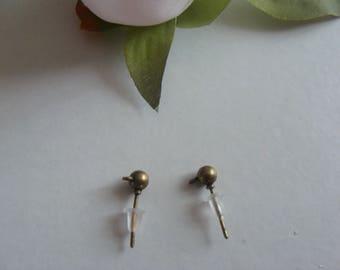 Bronze bullet earring holder pendant