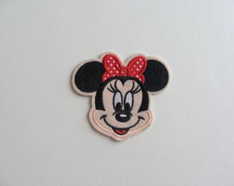 head applique girl mouse thermocollante 8.8 * 8 cm