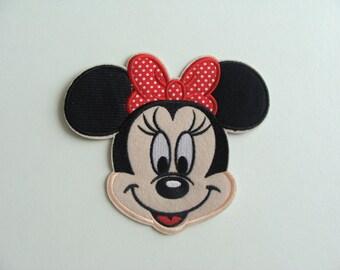 head applique girl mouse thermocollante 15 * 13 cm