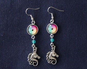 Unicorn and medieval Faerie earrings