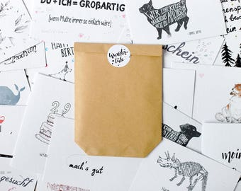 Surprise Bag with imperfect Greeting Cards