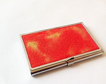 business card holder for business, red and gold, no. 11