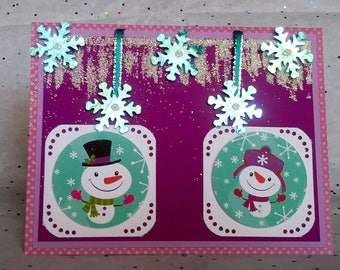 Warm Winter Wishes Handmade Holiday Greeting Card