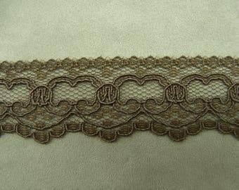 LACE of CALAIS - 3.5 cm - Brown