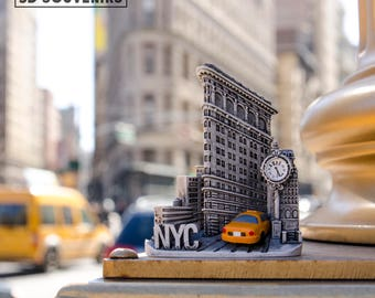 New York Tourist Travel Souvenir 3D Fridge Magnet Craft Gift, Flatiron Building