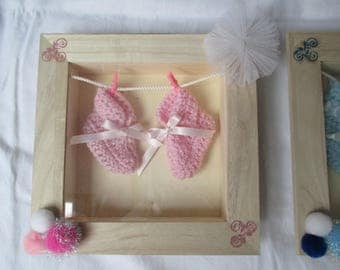 frame for wall decor pink birth baby room