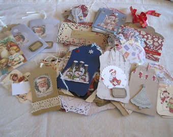 Enter, wholesale lot of labels, Christmas, vintage Father Christmas