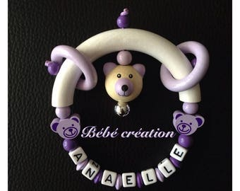 Rattle personalized various colors of the child
