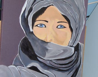 "30cmx40cm oil painting ""Blue eyes"""