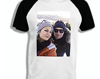 Tshirt two-tone man personalized with your photo
