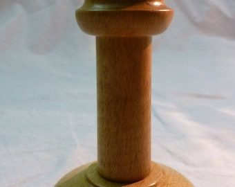 Polished wood - turning handcrafted candle holder