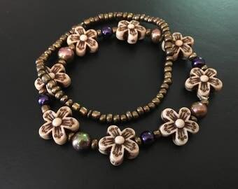 Flower bracelet set