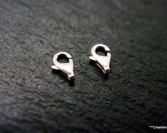 2 hooks in Silver 925 8 x 4 mm