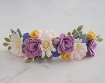 Daisy Full Flower Crown // Felt Flower Crown