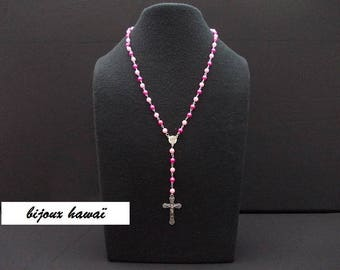 Two-tone pink color Rosary