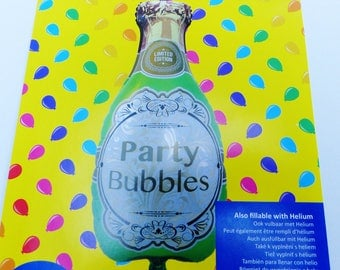 Big Bouncy ball shaped bottle of champagne 42 x 92 cm bubble party parties