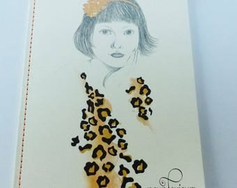 notebook notes lined girl always leopard 40 sheets