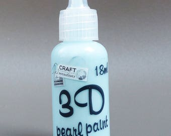 tube 3D Blue Pearl effect paint clear 18 ml