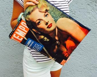 "JUNE Magazine bag/Pochette as a vintage magazine. Handbag like as Vintage Magazine. MacBook 13 ""Cover"