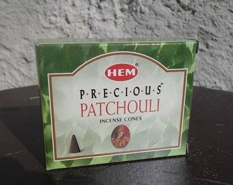 Box of 10 incense cones to scent your home Precious Patchouli