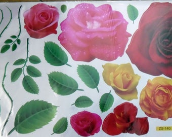 WALL DECALS FLOWERS * PINK C *.