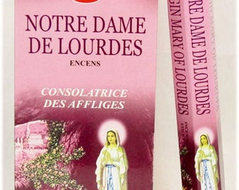 Box of our Lady of Lourdes Virgin Mary incense 20 sticks